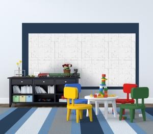 Cette gamme de parements muraux est conçue pour que la pose soit simplifiée, sans raccord, grâce à des joints creux périphériques (sur 2 côtés) qui s'intègrent harmonieusement dans le décor.