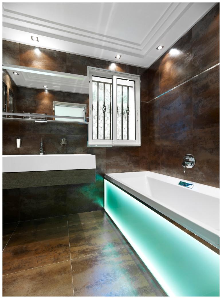 Salle de bain jeune homme, Villa Dell' Arte.