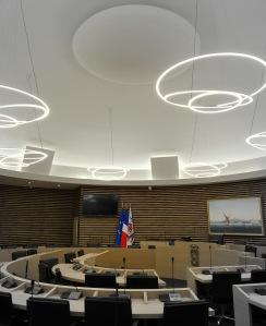 Salle du conseil, Mairie de Nice. Une réalisation Aretec.